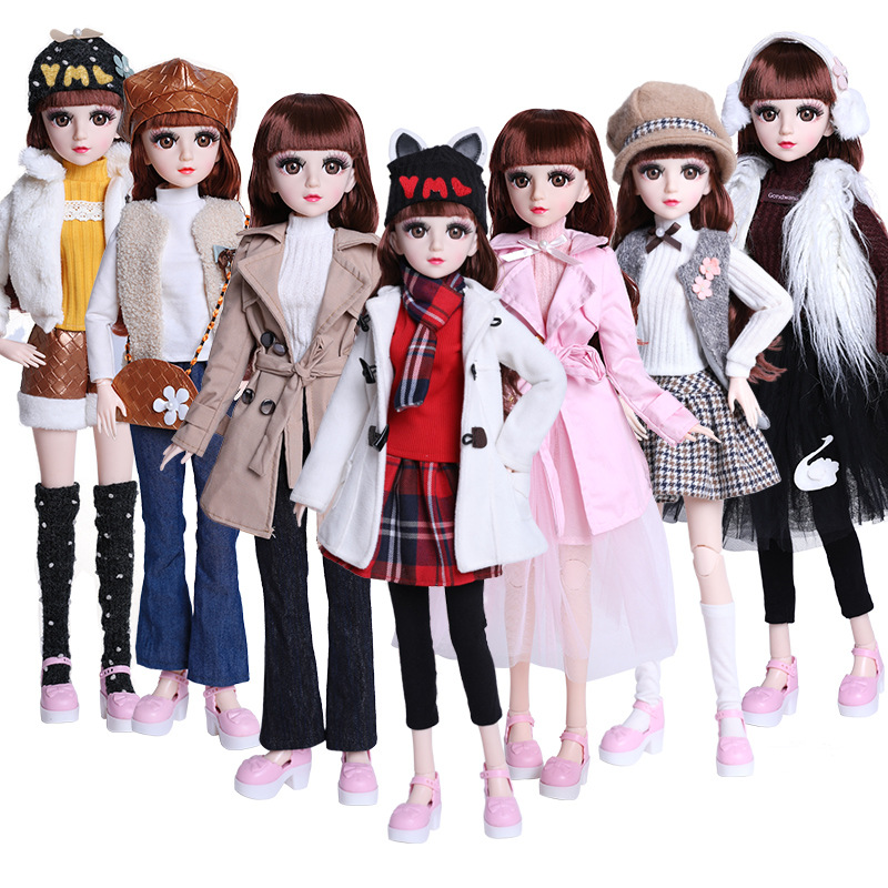 Beautiful Handmade Doll Set Dress 60cm BJD Doll Clothes Fashion Casual Suit Dress For 1/3 Doll Accessories Girls Kids Toy Gifts