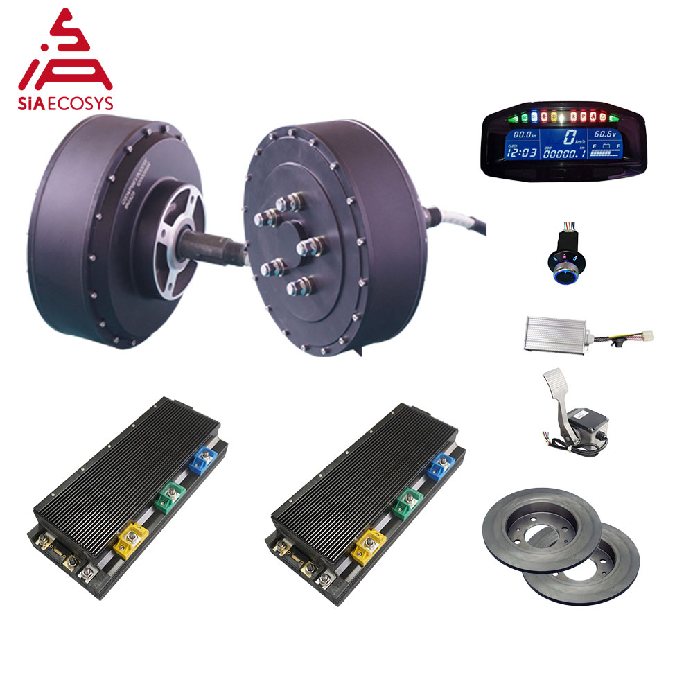 QS Motor 273 8000W 2wd 96V 115kph BLDC Brushless Electric Car Hub Motor Conversion Kits With APT96600 Motor Controller