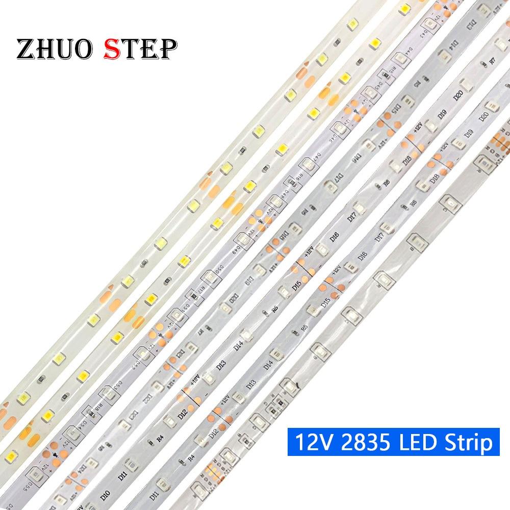 DC 12 V Volt Strip Led Light Tape 2835 RGB Waterproof 5 M 12V DC 60LED/M RGB Led Strip Tape Lamp Diode Flexible TV Backlight