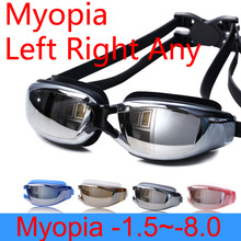 Swimming glasses Myopia Women Anti Fog professional Adults Prescription Waterproof swim Pool eyewear Optical Diving goggles