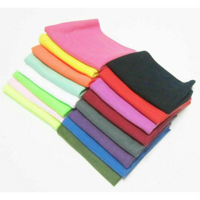20 color Women Men Outdoor Sports Bandana Scarf Headwear Solid color Face Mask Riding Cycling Headscarf Tube Wristband Headband 4
