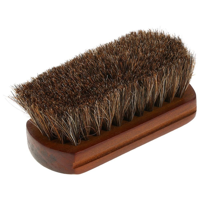Wood Handle Natural Horse Hair Mustache Beard Brush Facial Beard Cleaning Men's Shaving Brush Barber Salon Appliance Tools