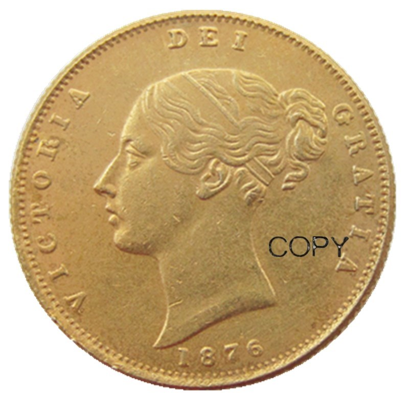 UK 1876 PS Queen Victoria Young Head Gold Coin Very Rare Half Sovereign Die Copy Coins Non-currency Coins     - AliExpress