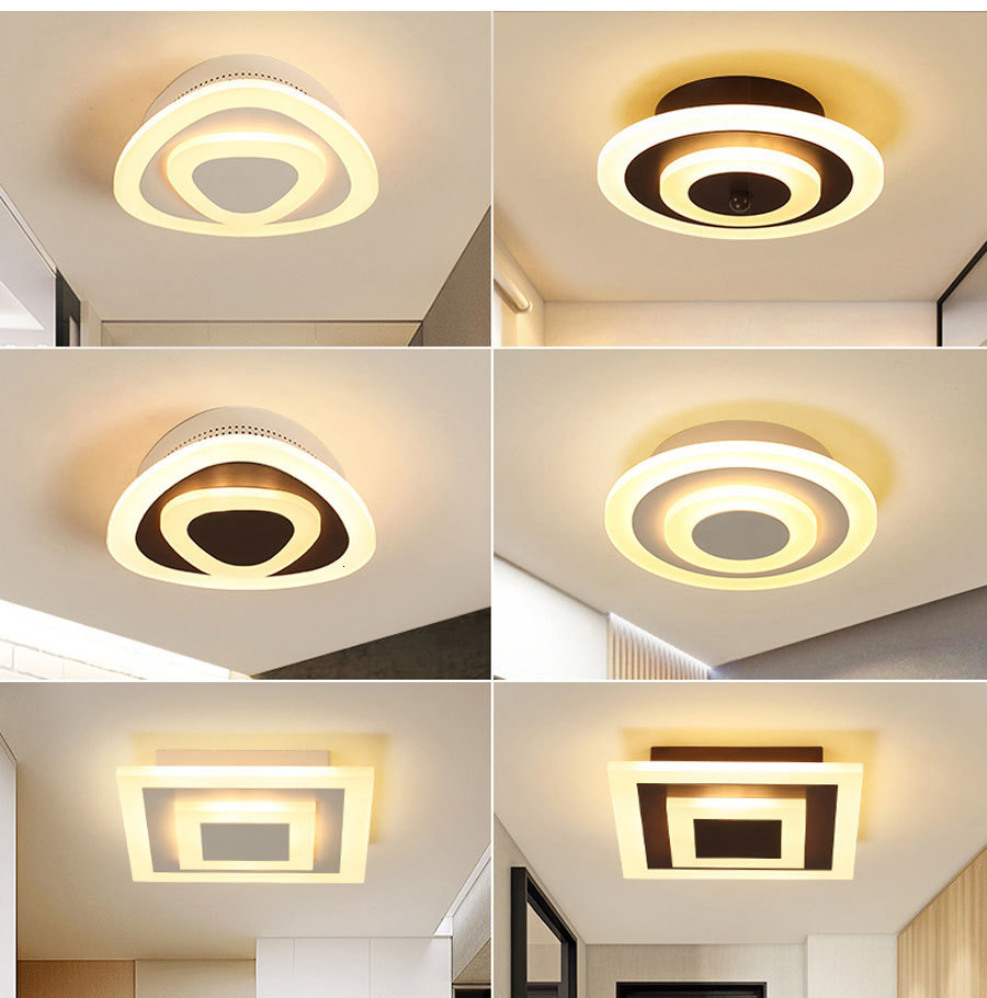 Hb27996f1dc6147feacd712f05d2a8cb5M Ceiling Light Modern LED corridor Lamp For bathroom living room round square lighting Home Decorative Fixtures dropshipping