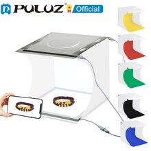 Puluz ミニスタジオライトボックス20cm,LEDスタジオ,写真撮影テント,6つのショートカット,背景なし,写真キット,ソフトボックス