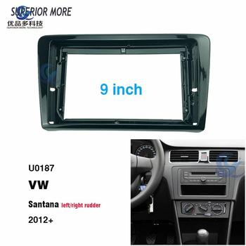 2 Din 9 inch car radio Fascias for VW SANTANA 2012 Dashboard Frame Installation dvd gps mp5 android Multimedia player image