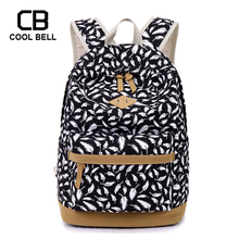 Women Backpack Kids Bag School Bags For Teenager Girls Feather Printing Canvas Backpack For Laptop Book Bag Girl Schoolbag