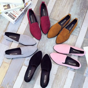 2020 Summer Women Loafers Flats Shoe Women Casual Shoes Suede Slip On Boat Shoes Female Shoe Comfortable Ballet Flats Size 35-40 2017 summer women s casual shoes genuine leather woman flats slip on femal loafers lady boat shoe big size 35 44 in 8 colors