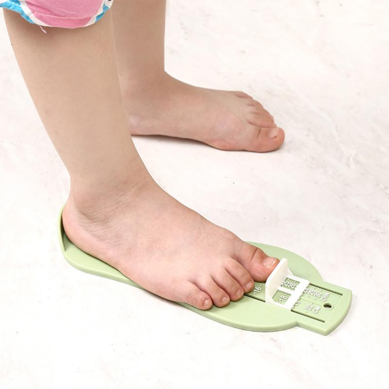 1pc 3 Colors Baby Foot Ruler Kids Foot Length Measuring Child Shoes Calculator For Children Infant Shoes Fittings Gauge