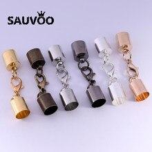 Lot de 10 colliers de serrage en cuir, fermoirs à homard, crochets 3, 4, 5, 6, 8, 9 et 10mm, bouchons d'extrémité, connecteurs pour la fabrication de bijoux, 10 pièces/lot