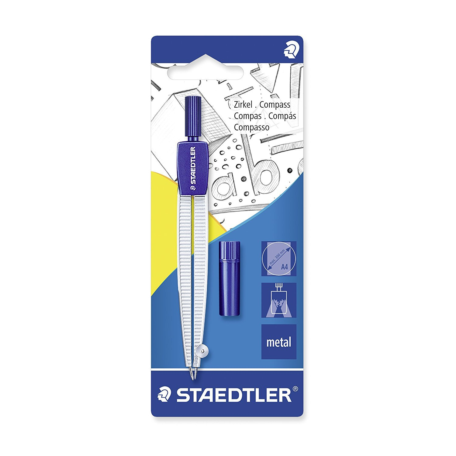 STAEDTLER Staedtler 550 50BK For Student Mapping Compasses (Scale) Hanging Card-