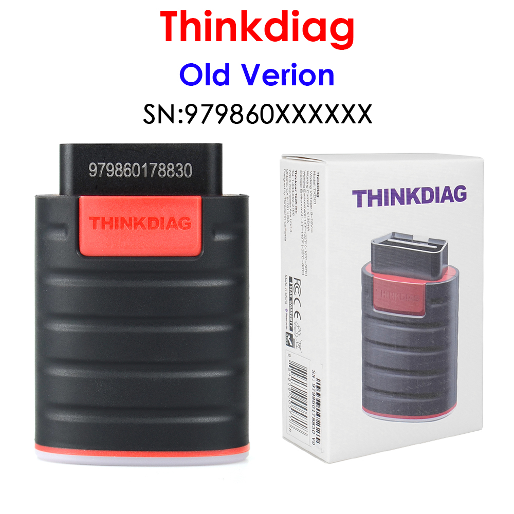 Диагностический инструмент Thinkdiag OBD2, старая версия, полная система, считыватель кодов, 15 сбросов, может работать с диагностическим инструме...