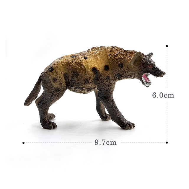 Hot Simulation Lion Hyena Forest Animal model figurine home decor decoration accessories modern plastic Educational toy 6