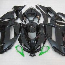 ABS Полный комплект обтекателя подходит для Kawasaki ZX6R 2007 2008 мотоцикл Обтекатели ZX-6R 07 08 Ninja 636 черный комплект кузова