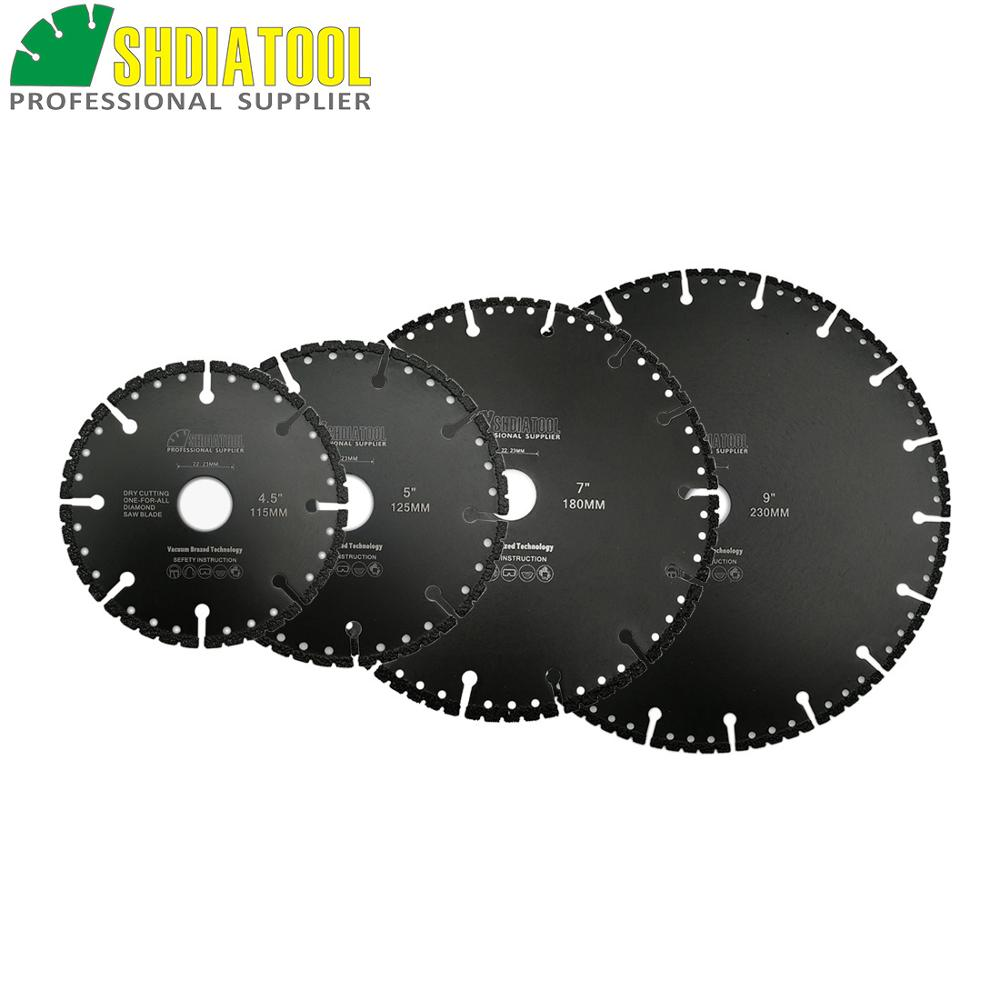 Lâmina de Serra Shdiatool Pcvacuum Soldadas Diamante Demolição Disco Corte Multi Purpose Ferro Fundido Vergalhão Alumínio Aço Concreto Metal 1