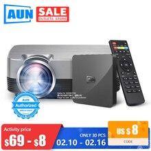 AUN MINI Projector Q6s/Q6, 1280x720P/800x480p Video Beamer. Portable 3D video Ci