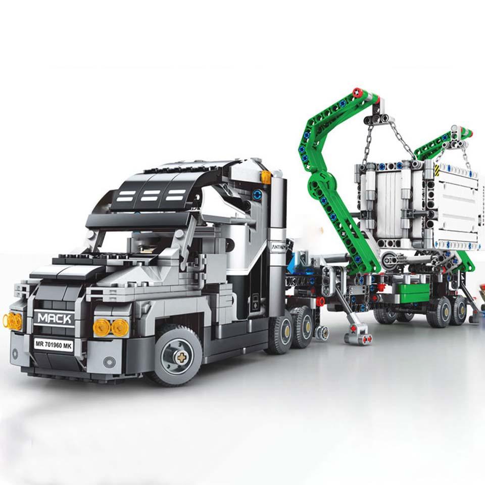 تكنيك 703940 1202 قطعة كبيرة شاحنة مجموعة اللبنات متوافق legoinglys الطوب سيارة المدينة لعب للأطفال هدية-في حواجز من الألعاب والهوايات على  مجموعة 1