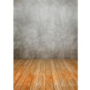 Image 3 - خلفية جدارية من قماش الفينيل بأرضية خشبية رمادية ستارة خلفية لصور استوديو التصوير للأطفال دمى الحيوانات الأليفة