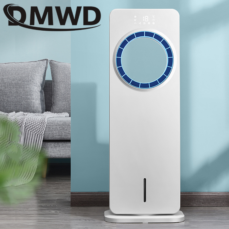 DMWD Air Conditioning Fan Water-cooled Chiller Electric Cooling Leafless Fan Remote Timing Cooler Humidifier Air Conditioner Fan