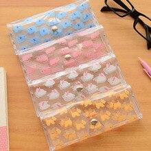 1pcs Flower Pen Eyewear Boxes Bags Cute Girl's Transparent Glasses Case Kawaii Cartoon Animals PVC Glasses Box