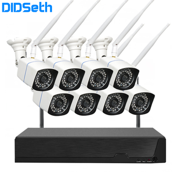 DIDSeth 2MP 1080P CCTV System 8ch HD Wireless NVR Kit 2TB HDD Outdoor IR Night Vision IP Wifi Camera Security System Kit zosi 8ch h 265 1080p hd wireless wifi nvr kit indoor outdoor waterproof ip66 night vision security ip camera wifi cctv system