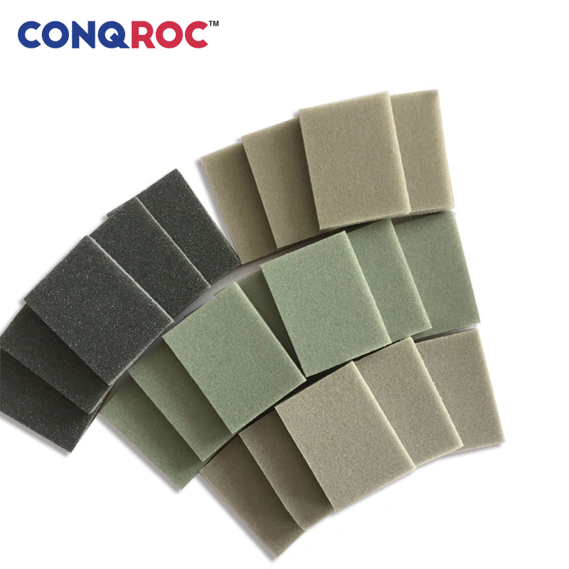 50 Pieces 30mm X 40mm Rectangle Sanding Sponges Dry Wet Sanding Paper For Toy Model Plastic Metal Polishing