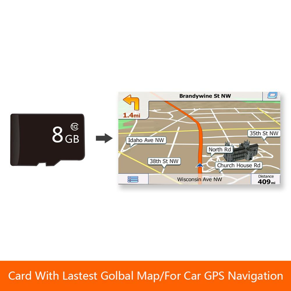 8GB GPS Map Micro SD Card for Car DVD Player GPS Navigation With Latest Global Map Europe Russia Spain Middle East USA AU