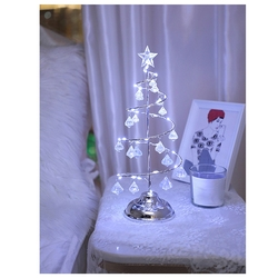 Lampki świąteczne Led kryształowe światełka na choinkę sypialnia lampa stołowa linia miedziana lampka nocna drut miedziany lampka nocna (biała w Lampy na biurko od Lampy i oświetlenie na