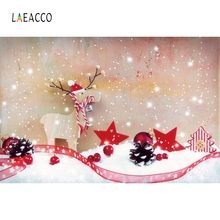 Laeacco Snow Christmas Photographic Backdrops Customized Baby Party Decor Portrait Vinyl Photography Background For Photo Studio sjoloon christmas photography backdrops christmas tree photographic background snow photo backdrop fond photo studio vinyl props