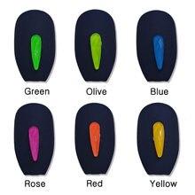 100 шт флуоресцентные Стразы для дизайна ногтей плоское стекло