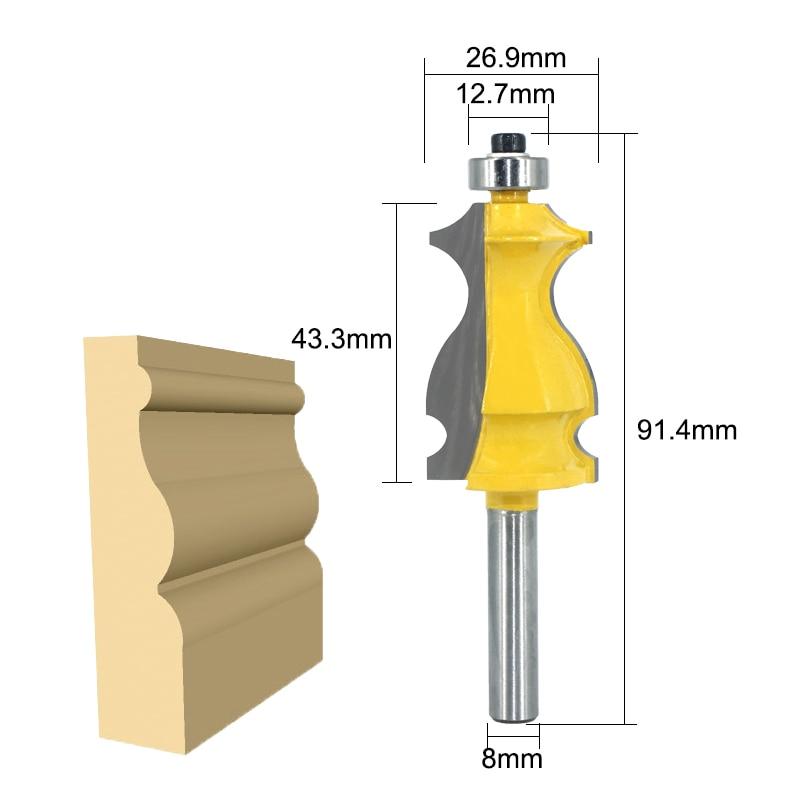 Closeout DealsLA VIE 10pcs 8mm Shank Architectural Molding Handrail Router Bits Set Casing Base CNC