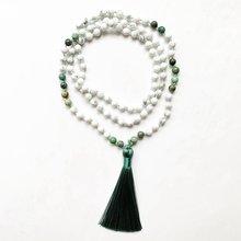6 мм mala ожерелье 108 натуральный камень белый howlite Африканский