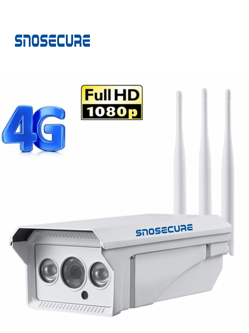 SNOSECURE HD1080P <font><b>3G</b></font> <font><b>4G</b></font> WiFI IP <font><b>Camera</b></font> Wireless Outdoor <font><b>Sim</b></font> <font><b>Card</b></font> GSM Bullet Security <font><b>Camera</b></font> Night-Vision 2-Way Audio P2P <font><b>Camera</b></font> image