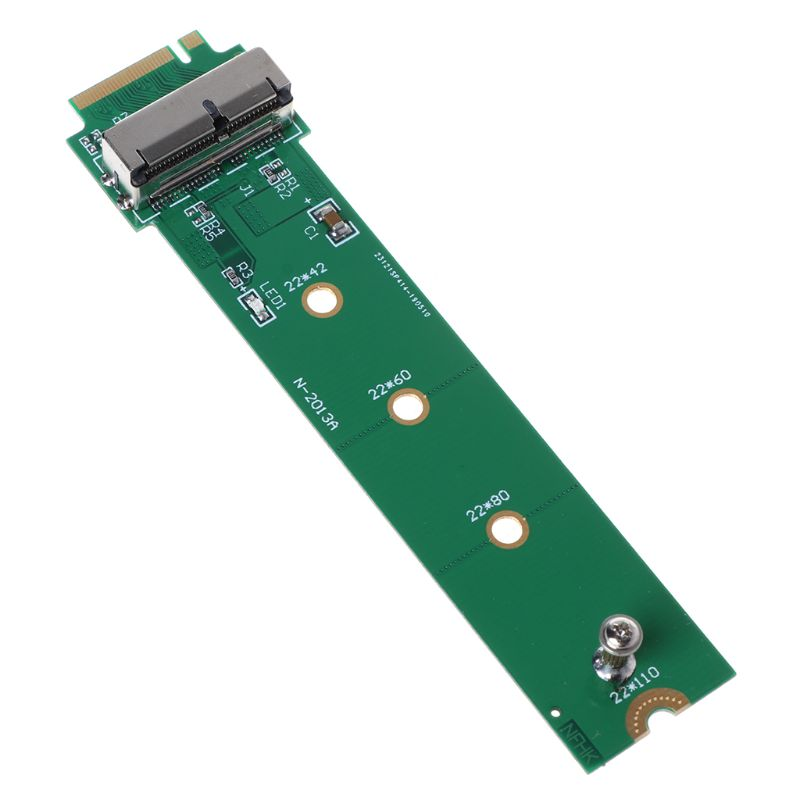 For MacBook Air Pro <font><b>12</b></font>+<font><b>16</b></font> Pins <font><b>SSD</b></font> to M.2 Key M (NGFF) PCI-e Adapter Converter Card for PC Computer Accessories X6HA image