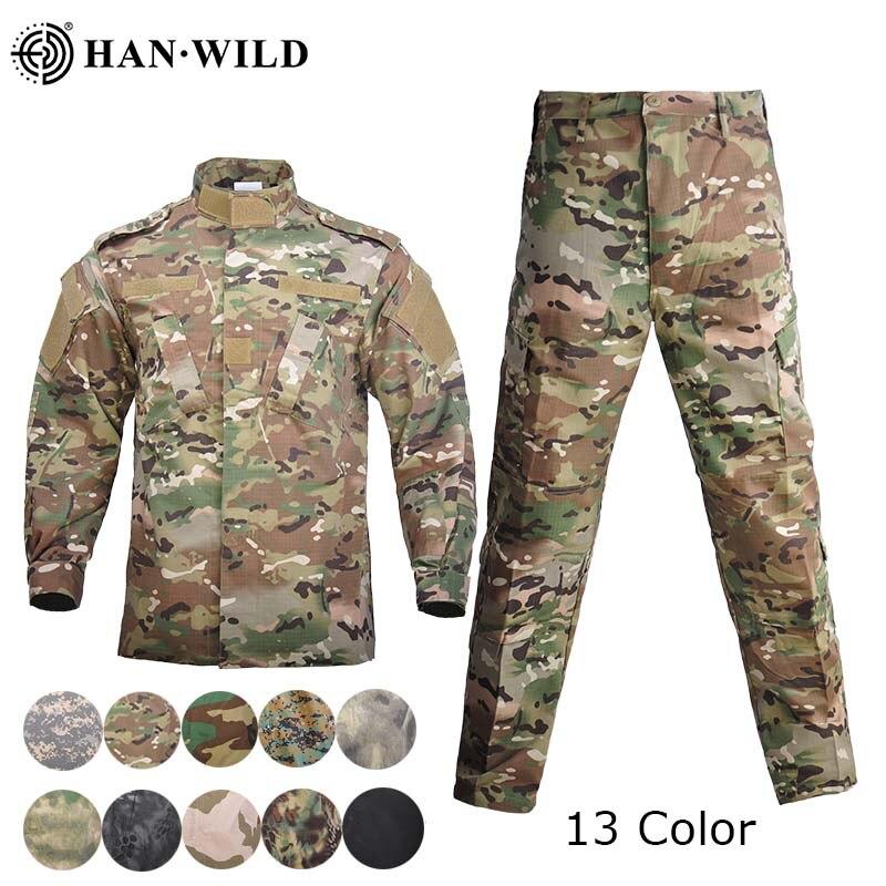 Männer Militär Uniform Airsoft Camouflage Taktische Anzug Camping Army Special Forces Combat Jcckets Hosen Militar Soldat Kleidung