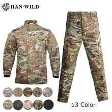 Men Military Uniform Airsoft Camouflage Tactical Suit Camping Army Special Forces Combat Jcckets Pants Militar Soldier Clothes