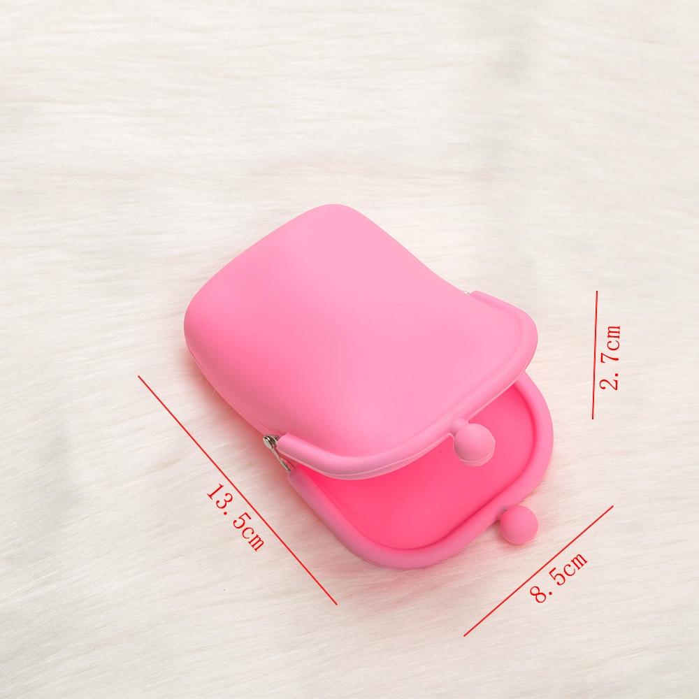 Купить с кэшбэком Cute Jelly Rubber Silicone Coin Purses Womens Lady Kid Coin Wallet Key Earphone Storage Bag