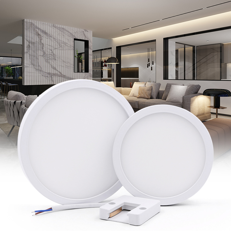 6W 9W 13W 18W 24W LED Circular Panel Light Surface Mounted Led Ceiling Light AC 85-265V Lampada Led Lamp For Home Decoration
