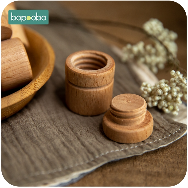 Bopoobo 5pc Wooden Baby Souvenir Gift Tooth Collection Box Baby Toys Children's Deciduous Teeth Box Toys Building Blocks