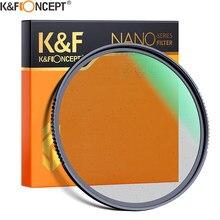 K & F Concept – filtre d'objectif, Diffusion de brume noire 1/4 1/8, effets spéciaux, pour filmer des films, 49mm, 52mm, 58mm, 62mm, 67mm, 77mm, 82mm