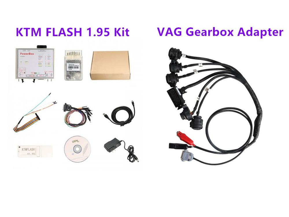 KTM FLASH 1.95 Programmer Plus VAG Gearbox Adapter Read And Write For DQ250 DQ200 VL381 VL300 DQ500 DL501