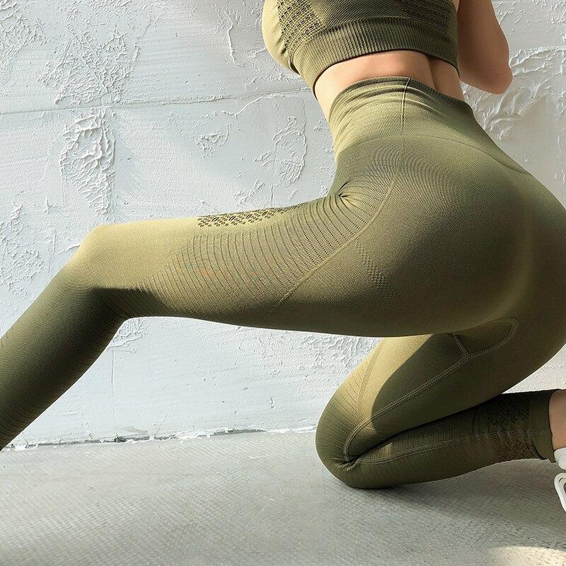 Женские штаны для йоги женские леггинсы с высокой талией бесшовный