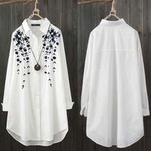 ZANZEA – chemise élégante à imprimé Floral pour femmes, chemises décontractées à la mode, boutonné, Blusas de travail à revers, grande taille, tunique