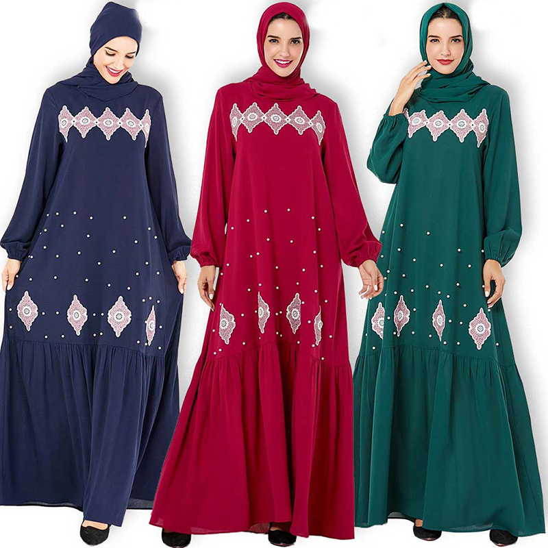 Plus Size Arabic Abaya Dubai Muslim Hijab Dress Islamic Clothing For Women Jilbab Caftan Marocain Kaftan Turkish Dresses Ramadan
