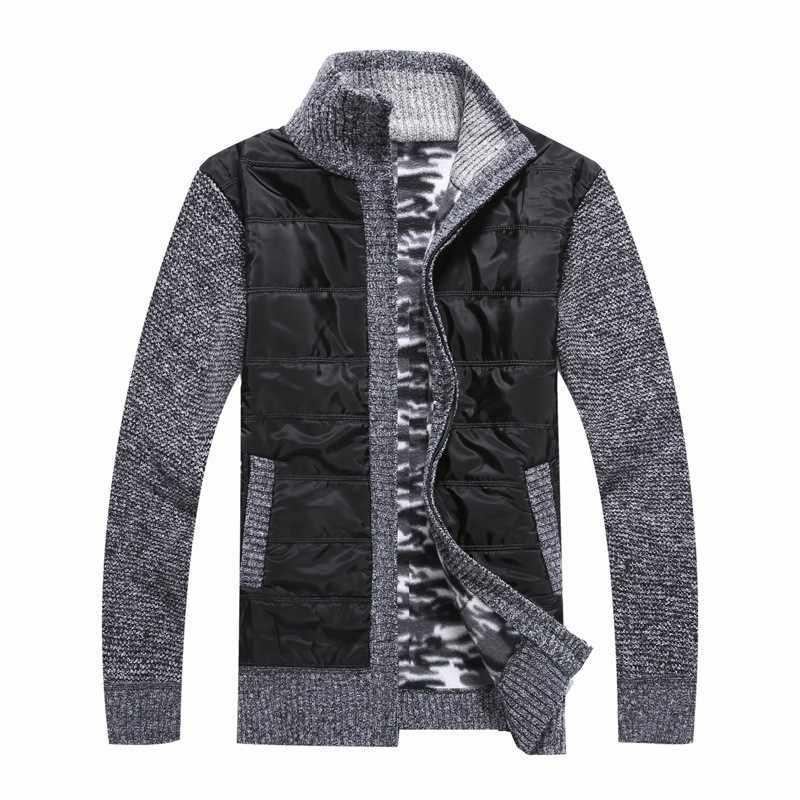 2020 새로운 캐주얼 가디건 뜨개질 스웨터 남자 겨울 두꺼운 따뜻한 겉옷 하이 스트리트 솔리드 컬러 지퍼 스웨터 자 켓 M-3XL