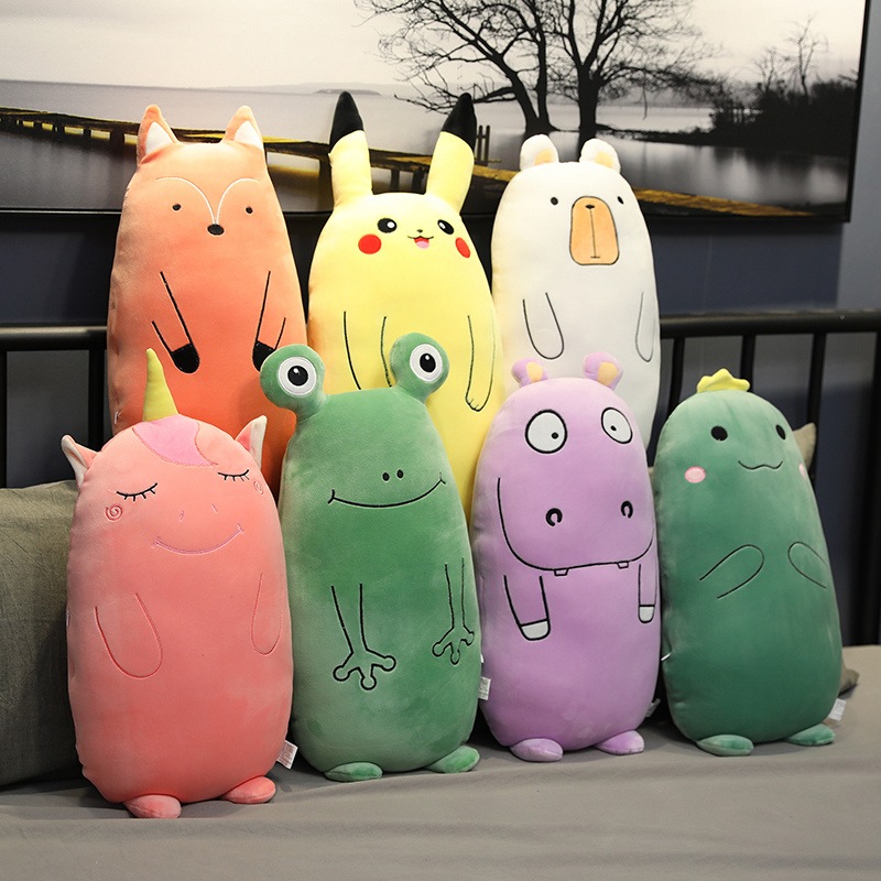 Huggable Plush Dinosaur Unicorn Frog Fox Hippo Toys Kawaii Pillow Soft Stuffed Animal Dolls Soft Cushion Plush Toys Girl Gift
