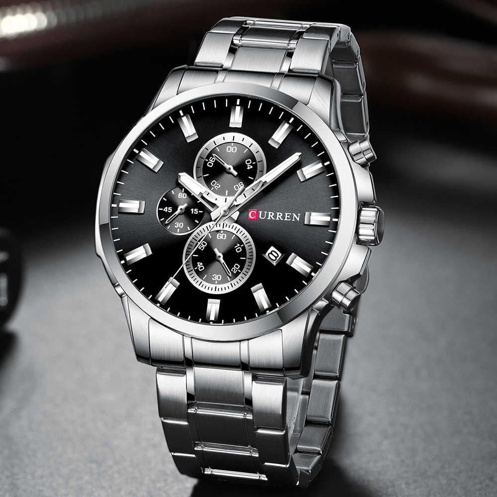 CURREN מכאני עיצוב קלאסי גברים של שעון, שלוש חוגות עמיד ויפה שעון, עמיד למים ועמיד שעון