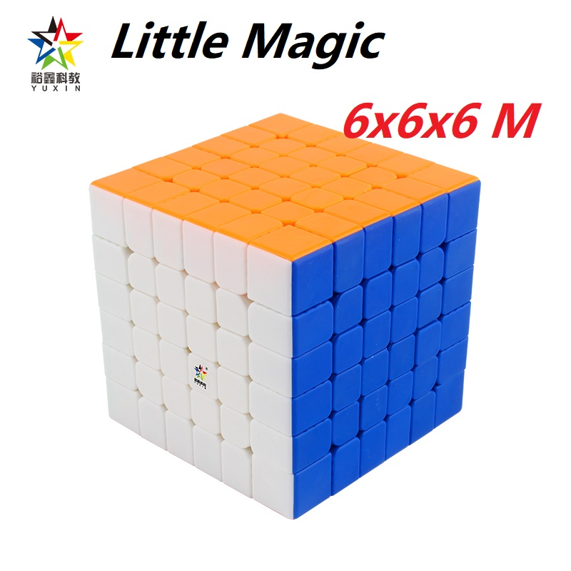 Newest Yuxin Little Magic 6x6x6 Magnetic 6 M Magic Speed Cube 6x6 Magnets Puzzle Cubo Magico Zhisheng 6M Competition Kid Toys