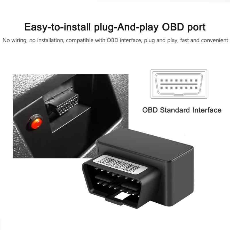 OBD II GPS Tracker Mobil Mini Plug Bermain GSM 16 Pin OBD2 Alat Pelacak GPS Locator OBDII dengan Sistem Online IOS & Android Aplikasi