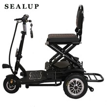 8 Inch Electric Tricycle Adult Elderly Three Wheels Electric Scooter 350W 48V Portable Electric Scooter For Disabled(China)